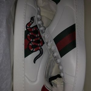 Gucci Ace Embroidered Snake
